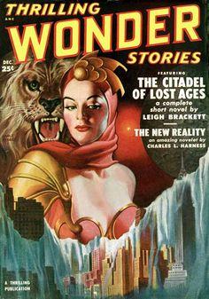 Earle K. Bergey: Thrilling Wonder Stories Covers 1950: February; October; December 1951: June; August 1952: June
