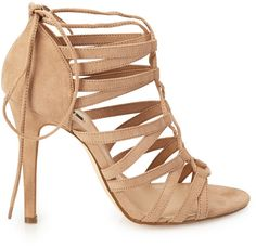 FOREVER 21 Strappy Faux Suede Sandals