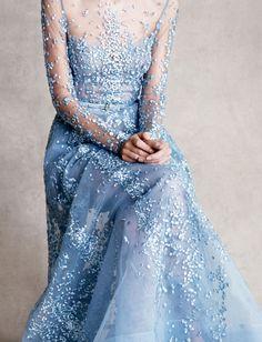 floral dress blue regal