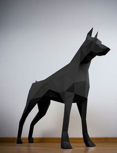 If you love dogs but can't quite commit to real live one, then this Doberman papertrophy is a creative substitute!
