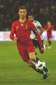 Cristiano Ronaldo in action during the International Friendly between Portugal and Egypt