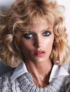 Anja Rubik photographed by Camilla Akrans, styled by Nicola Knels for Vogue Germany August 2014, 9 1/2 weeks special tribute