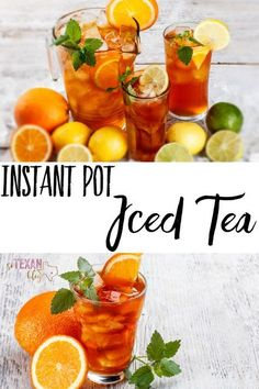 Instant Pot iced tea-- southern sun tea, but faster!