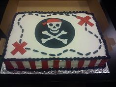 Pirate Treasure Map Cake By Stephanie Dillon Ls1 Hy Vee