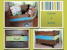 Caisse à jouets en caisse à pommes