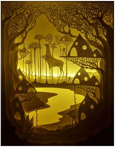Hari & Deepti | Black Book Gallery Free Spirit Hand cut paper inside a white light-box illuminated with LED