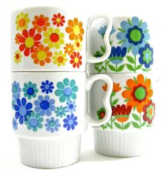 Happy Japanese Stacking Cups