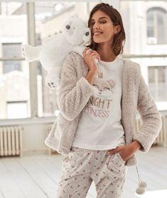 4515a19755294 Pyjamas femmes · Pijama 3 piezas estampado Sous Vetement Femme Etam,  Vetement De Nuit Femme, Vetement Hiver