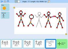Stick2, herramienta web gratuita para crear sencillas animaciones con figuras de palo