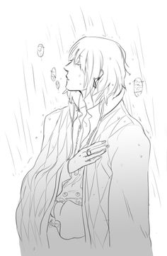Look! He's sheltering Calcifer! How cute! Sheltering from the rain by ~Kiwishu on deviantART