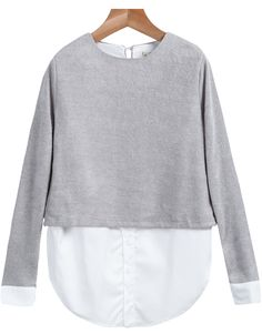 Shop Grey Round Neck Long Sleeve Loose Blouse online. Sheinside offers Grey Round Neck Long Sleeve Loose Blouse & more to fit your fashionable needs. Free Shipping Worldwide!