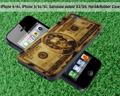 Burned Wood Art Twenty Dollars for iPhone 4 / 4S by FASTYCorner, $13.00