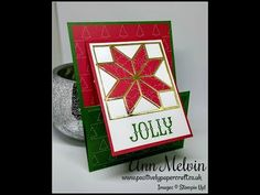 #2 Festive Friday Quilted Christmas Fancy Fold Gift Card Holder - YouTube