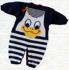 Find and save knitting and crochet schemas, simple recipes, and other ideas collected with love. Baby Born Clothes, Crochet Baby Clothes, Crochet For Boys, Knitting For Kids, Baby Knitting Patterns, Baby Overalls, Baby Pullover, Knitted Romper, Cross Stitch Baby