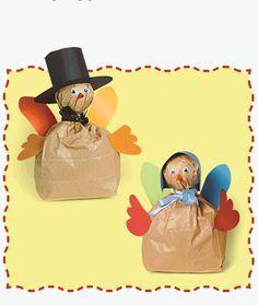 Lunch bag turkeys #kids #craft #Thanksgiving
