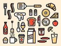 #Icons (Everday Things) by Kevin Moran, via Behance