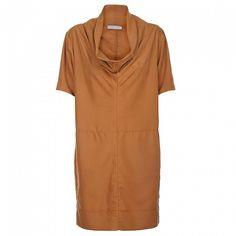Dámské světle hnědé šaty Pietro Filipi se širokým límcem Short Sleeve Dresses, Dresses With Sleeves, Design, Fashion, Minimalism, Luxury, Moda, Sleeve Dresses, Fashion Styles