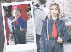 MoonByul (문별) Past and Present Moosical Curtain Call 2017 Postcard
