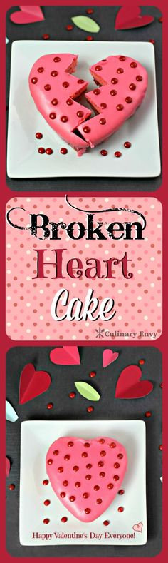 Broken Heart Cake is an EASY fruit layered mini Strawberry cake from a mix, with a Pink Lemonade glaze for that Special Someone!
