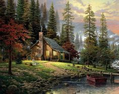 La cabaña  cerca del lago