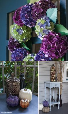 DIY Fall Front Door and Porch Decor by @liag   #michaelsmakers