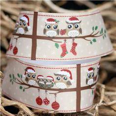 Christmas Owl Ribbon Pinned by www.myowlbarn.com