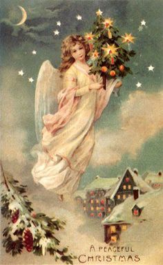 Vintage Angels - Angels - Vintages Cards - Christmas Wallpapers, Free ClipArt for Xmas, Icon's, Web Element, Victorian Christmas Photos and Vintage Santa Claus pictures