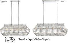 Minka-Lavery Braiden Crystal Island Light - Deep Discount Lighting Island Pendants, Discount Lighting, Minka, Island Lighting, Ceiling Lights, Deep, Crystals, Home Decor, Decoration Home
