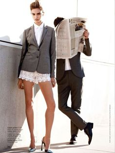 DO IT LIKE A DUDE: SHARON KAVJIAN BY WALTER CHIN FOR UK GLAMOUR APRIL 2013