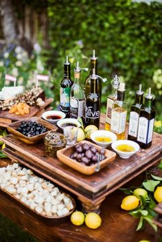 love the different olive oils (and olives)