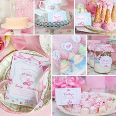 """Shabby Chic Princess Party / Birthday """"Shabby Chic Princess Party"""" 