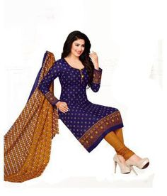 DRAPES Purple Cotton Dress Material Price in India - Buy DRAPES Purple Cotton Dress Material Online at Snapdeal