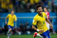 Neymar comemora ao marcar o 1º gol do Brasil na partida. Foto: Danilo Verpa/Folhapress