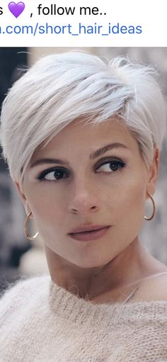 Short Silver Hair, Edgy Short Hair, Short Hair Trends, Super Short Hair, Cute Hairstyles For Short Hair, Short Hair Cuts For Women, Hairstyles Haircuts, Short Hair Styles, Messy Haircut