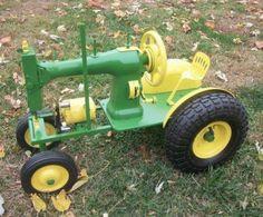 Wonderful DIY Sewing Machine Tractor