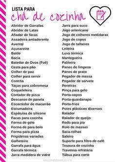 Lista de Chá de Panela – Modelos de Convite