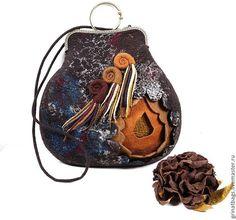 """Купить Сумка """"Черный шоколад"""" - коричневый, шоколадный цвет, оригинальная сумка, подарок женщине"""