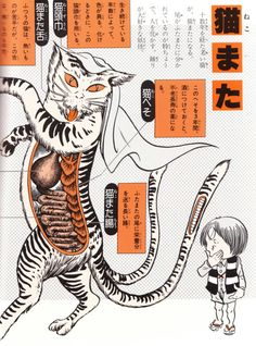 "darksilenceinsuburbia:  Shigeru Mizuki - Illustrated Guide To Yokai Monsters, 2004 ""Yōkai Daizukai, an illustrated guide to yōkai authored b..."