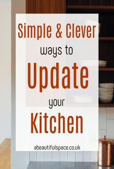 Clever ways to update a kitchen, simple and impactful ways to give your kitchen a refresh and update its look Beautiful Space, Beautiful Homes, Stylish Kitchen, Kitchen On A Budget, Simple House, Beautiful Kitchens, Easy Projects, Decorating Tips, Frugal