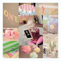 Vintage Shabby Chic First Birthday Party