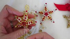 Star ornament bead weaving tutorial