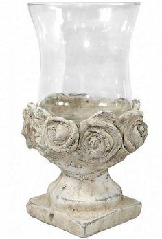 Svícen z kameniny a skla Home Decor, Vase, Decor