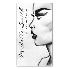 Woman drawing Make-up artist business card design