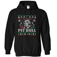PIT BULL Ugly Christmas Sweater-style Printed Tee!Are you a Pit Bull Lover? Then, this shirt perfect for you. Sizes small to 5x. Various colors. Plus HOODIE and other options!
