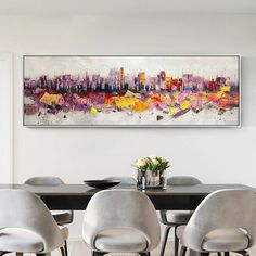 Salt Lake City Skyline Abstract Watercolor Painting Art Print by Artist DJR
