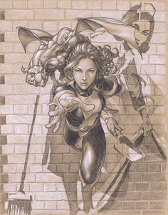 Kitty Pryde and Lockheed by Mike Choi *