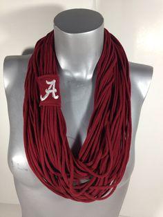 University of Alabama, BAMA, Roll Tide Infinity Scarf, SEC Football on Etsy, $25.00