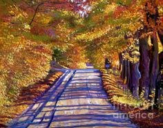 David Lloyd Glover - Country Road, painting acrylic on canvas