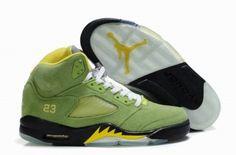 cheap for discount 949d5 6b943 Buy 2013 New Fluff Grass Green Black-Yellow Air Jordan 5 (V) Fashion Shoes  Shop