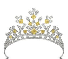 Graff tiara, diamonds and yellow diamonds. Contemporary.